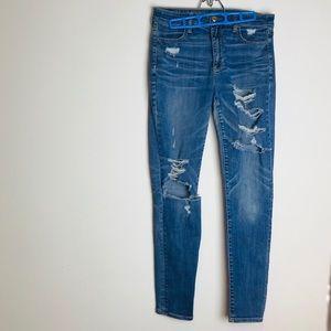 American Eagle Distressed Super Stretch Jeans